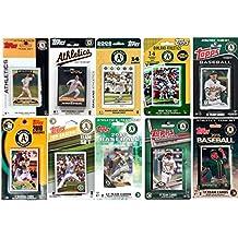 C&I Collectables MLB Oakland Athletics Men's 10 Different Licensed Trading Card Team Sets, White