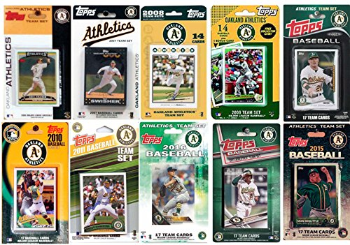 C&I Collectables MLB Oakland Athletics Men's 10 Different Licensed Trading Card Team Sets, White from C&I Collectables