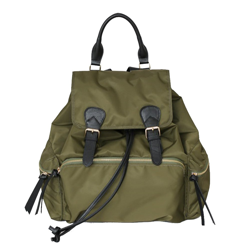 VF P923 Leather Accent Twill Backpack Khaki