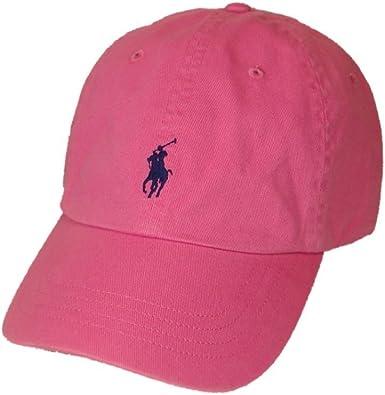 Polo Ralph Lauren Pony Logo sombrero gorra Maui Rosa con azul ...