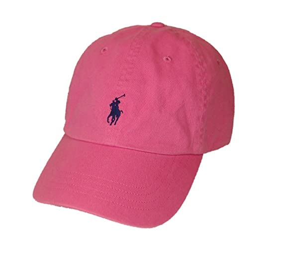Polo Ralph Lauren Pony Logo Hat Cap Maui Pink with Navy Pony  Amazon.ca   Clothing   Accessories ea363de7497