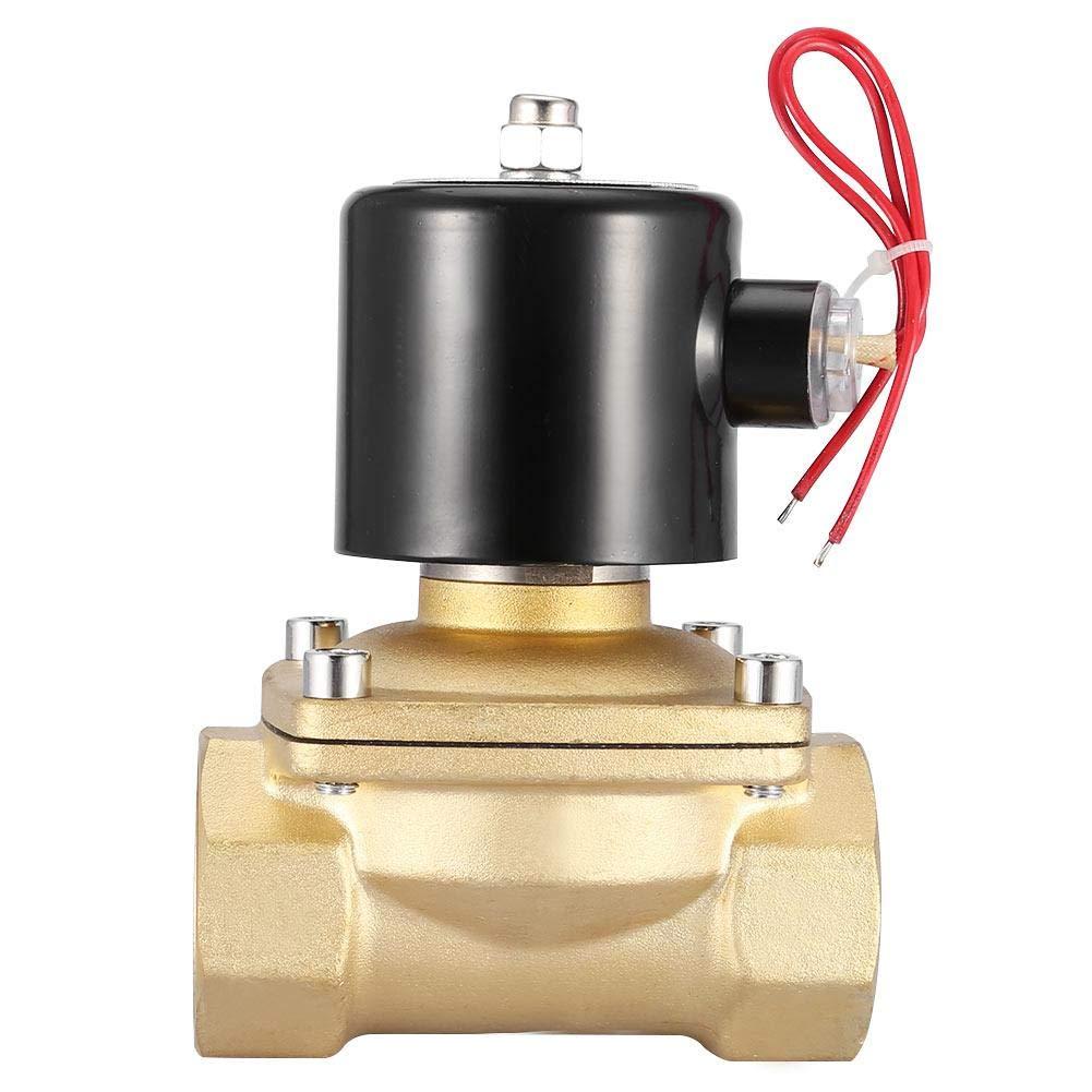 V/álvula solenoide el/éctrica de lat/ón normalmente cerrada 1-1//2y 220 VCA 2 v/ías