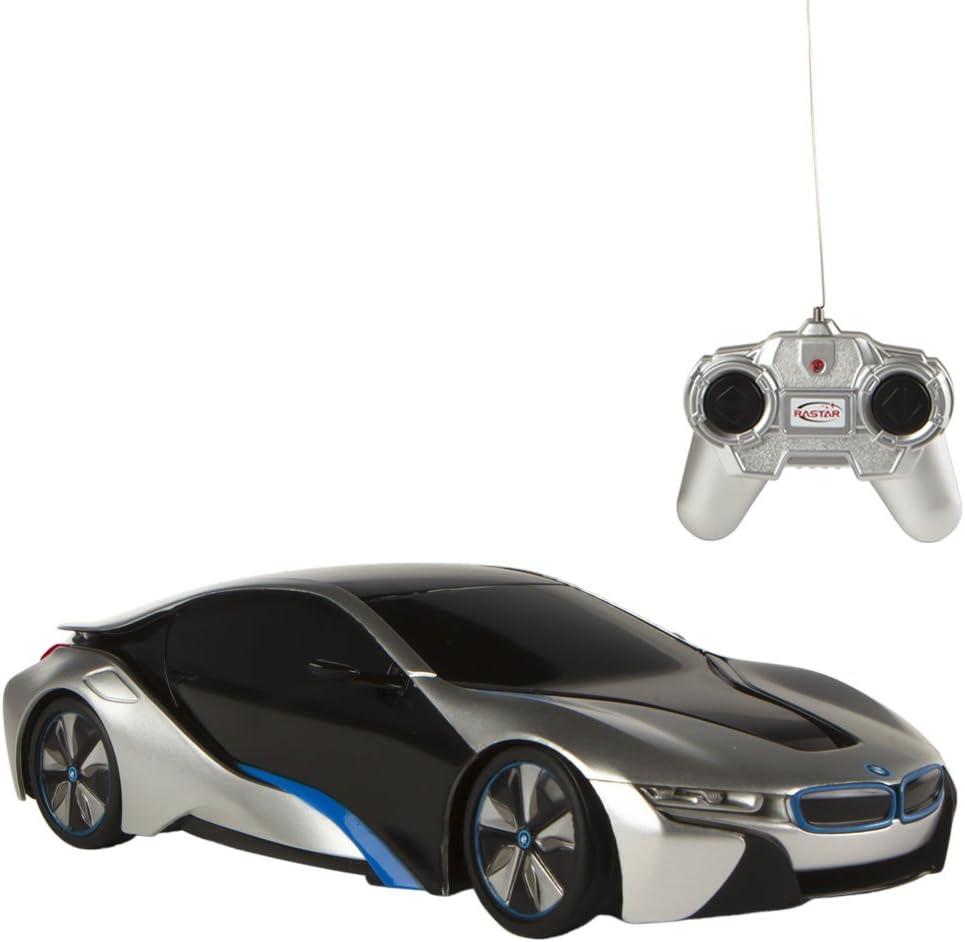 Rastar - Coche teledirigido 1:24 - BMW i8 gris (75898)