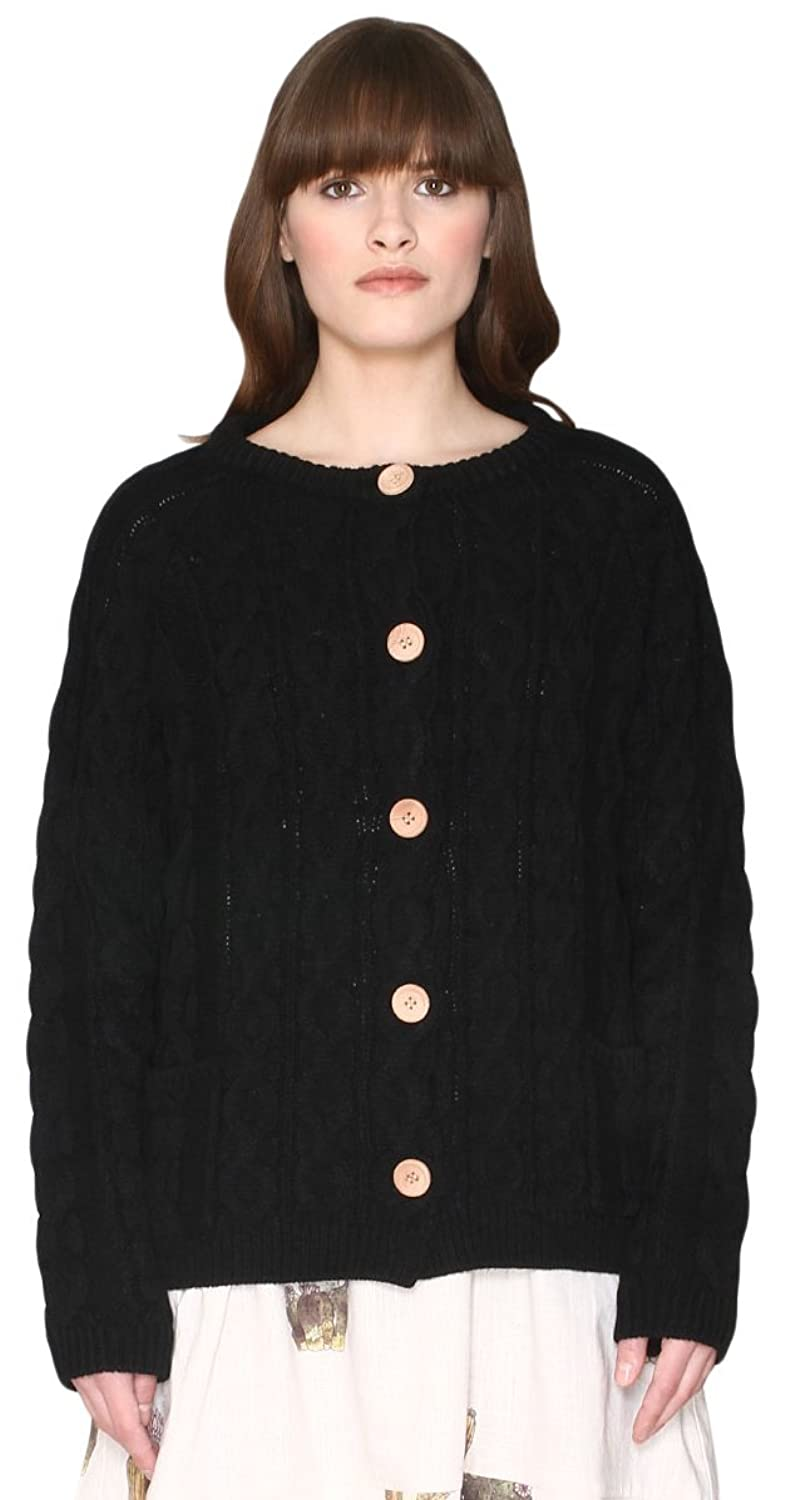Pepa Loves Damen Pullover Cardigan Cable