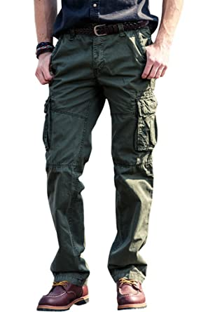 Mens Wild Cargo Pants Relaxed Fit Casual Cargo Work Pants, 100 ...