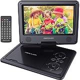 """DBPOWER Reproductor de DVD Portátil de 9.5"""" con Pantalla Giratoria, Compatible con Tarjetas SD y USB, Reproducción Directa en Formatos AVI/RMVB/MP3/JPEG (Negro)"""