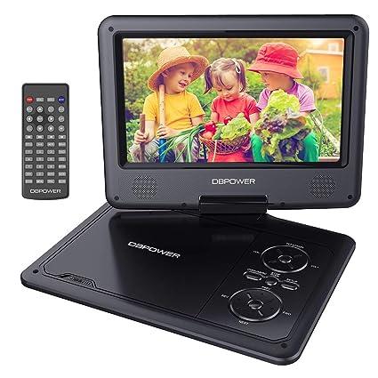 """DBPOWER Reproductor de DVD Portátil de 9.5"""" con Pantalla Giratoria, Compatible con Tarjetas SD"""