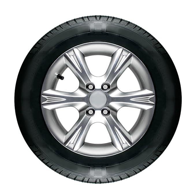 SODIAL(R) 4PCS Tapas de Valvula de aire de rueda de neumaticos de aluminio para coche bicicleta: Amazon.es: Coche y moto