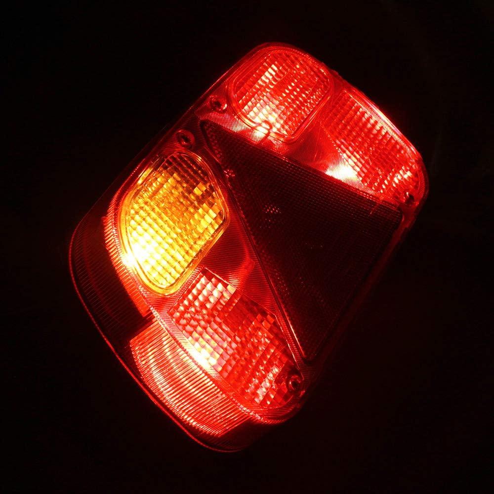 AOHEWEI Anh/änger R/ücklichten Satz Kabelbaum Heckleuchte F/ür Lkw Beleuchtungs Kabel Satz/Mit 2 St/ück 30cm langem 5 Adriges Kabel/Geeignet f/ür Anh/änger Wohnwagen oder LKW Tippe A