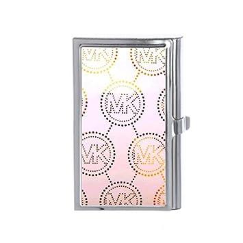 Michael Kors MK Custom titulares de tarjetas de negocios - - Cartera de tarjeta de Crédito ID Nombre de tarjeta caso: Amazon.es: Oficina y papelería