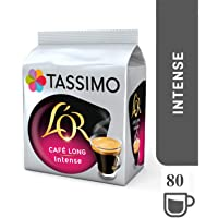Tassimo Dosettes Café - L'OR Long Intense - 80 boissons (Lot de 5X16 T DISCs)
