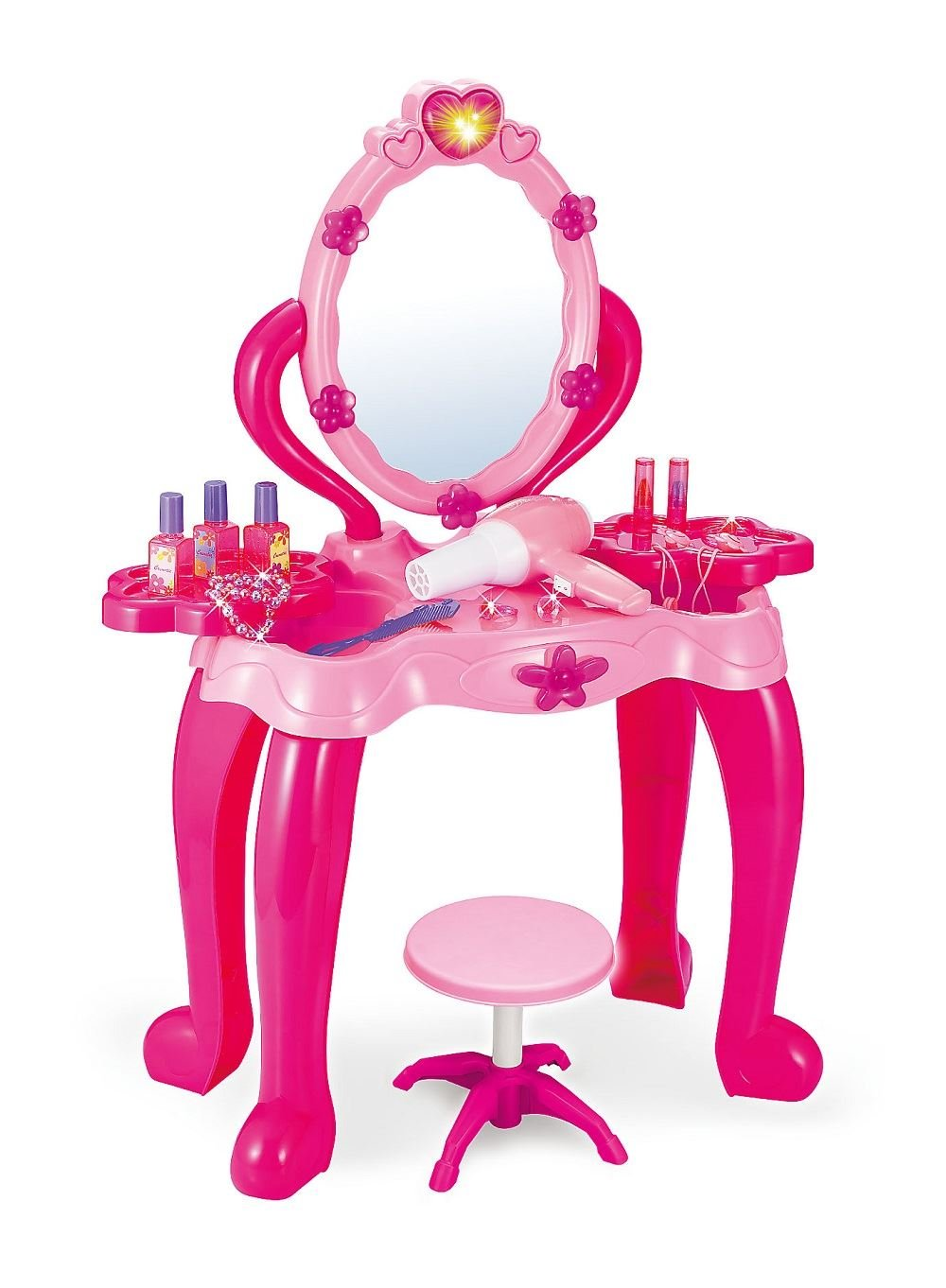 Vinsani Girls Princess Dressing Table Stool Play Set Features Vanity Light  U0026 Music: Amazon.co.uk: Toys U0026 Games