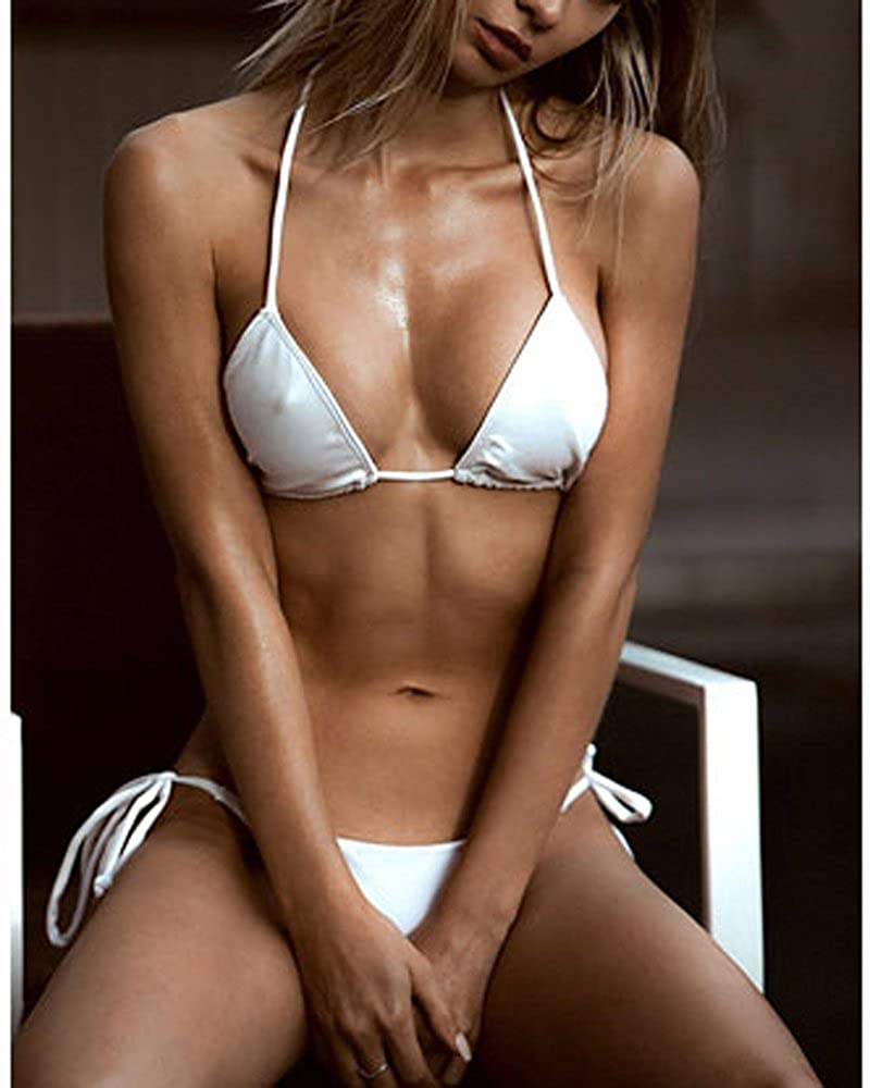 SHERRYLO 10 Solid Color Womens Thong Bikini Set String Bademode For S-XL Body