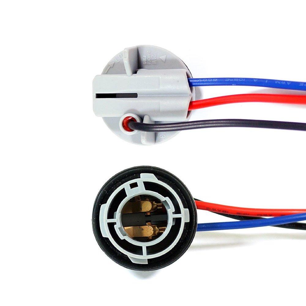 2 Pack Light Bulb Extension Replacement Socket Bay15D 1157 Lamp Holder GENSSI