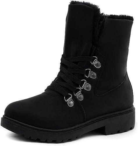 Winter Schlupfstiefel Damen Damenschuhe Boots Kunstfell Stiefeletten GEFÜTTERT