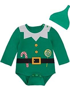 Amazon.com: Disfraz de elfo de Navidad para bebé, niños ...