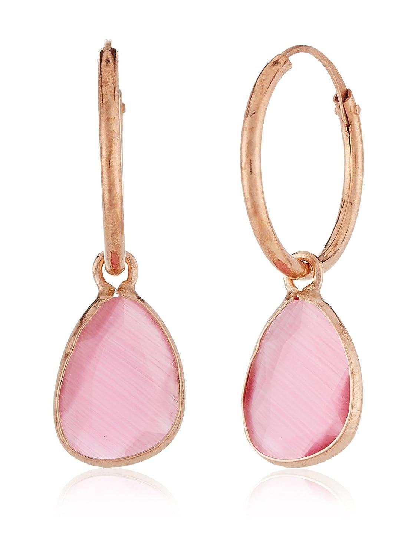 Córdoba Jewels  Pendientes plata de Ley bañado oro rosa y piedra