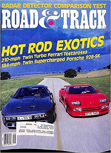 Road & Track September 1986 Journal – 1900
