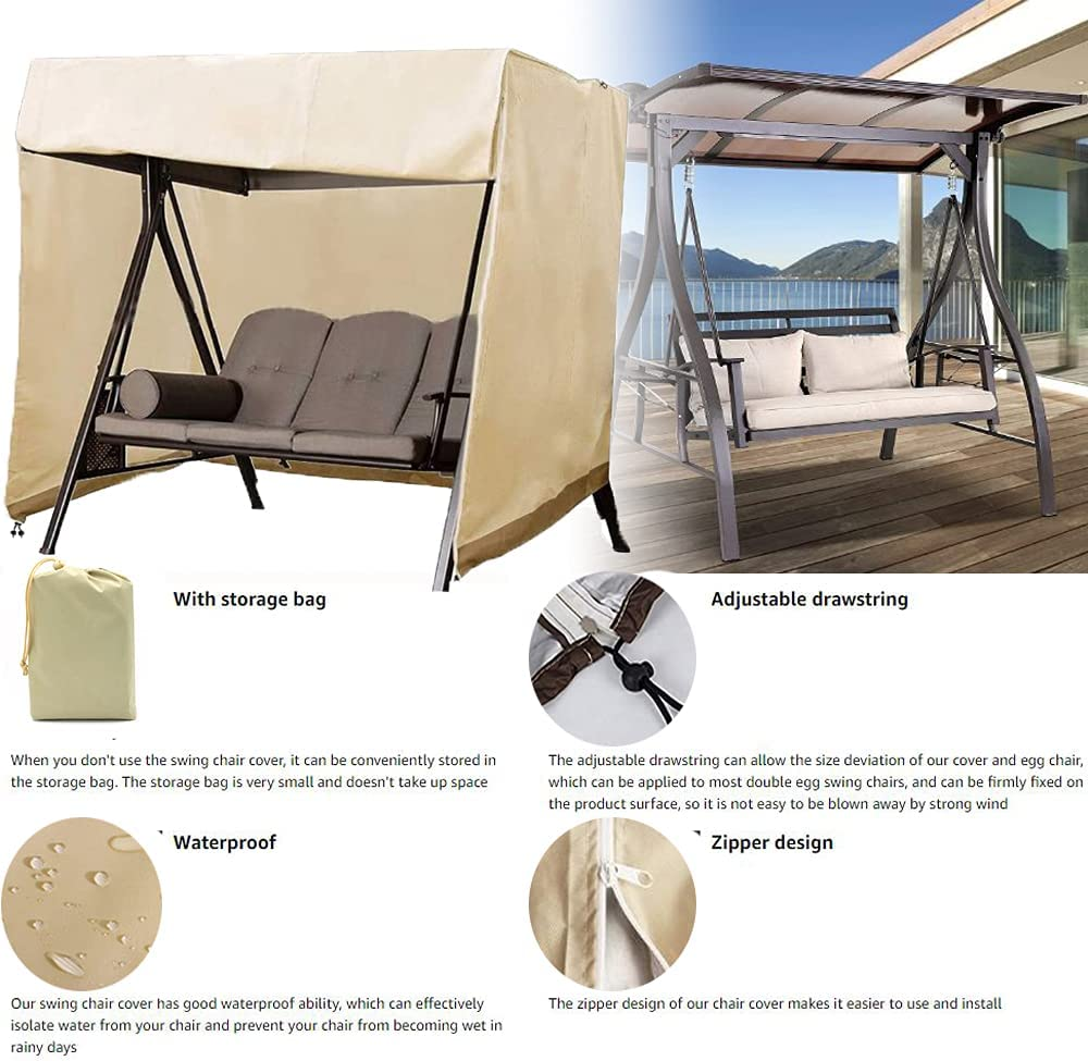 Details about  /REINFORCED WATERPROOF 3 SEATER SWING GARDEN HAMMOCK PROTECTIVE COVER