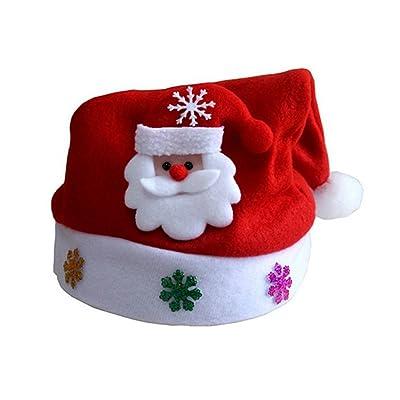 d85a3b71a7d soleilnoir Cute Snowman Santa Cartoon Baby Kids Infant Toddler Girl Warm Hat  Cap Santa s hat for Christmas (Santa Claus)