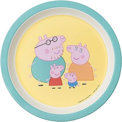 Petit Jour Paris - PI705K - Assiette bébé verte Peppa Pig - Des ...