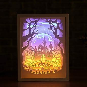 Lámpara de talla de papel Lámpara de sobremesa Lámpara de mesa ...