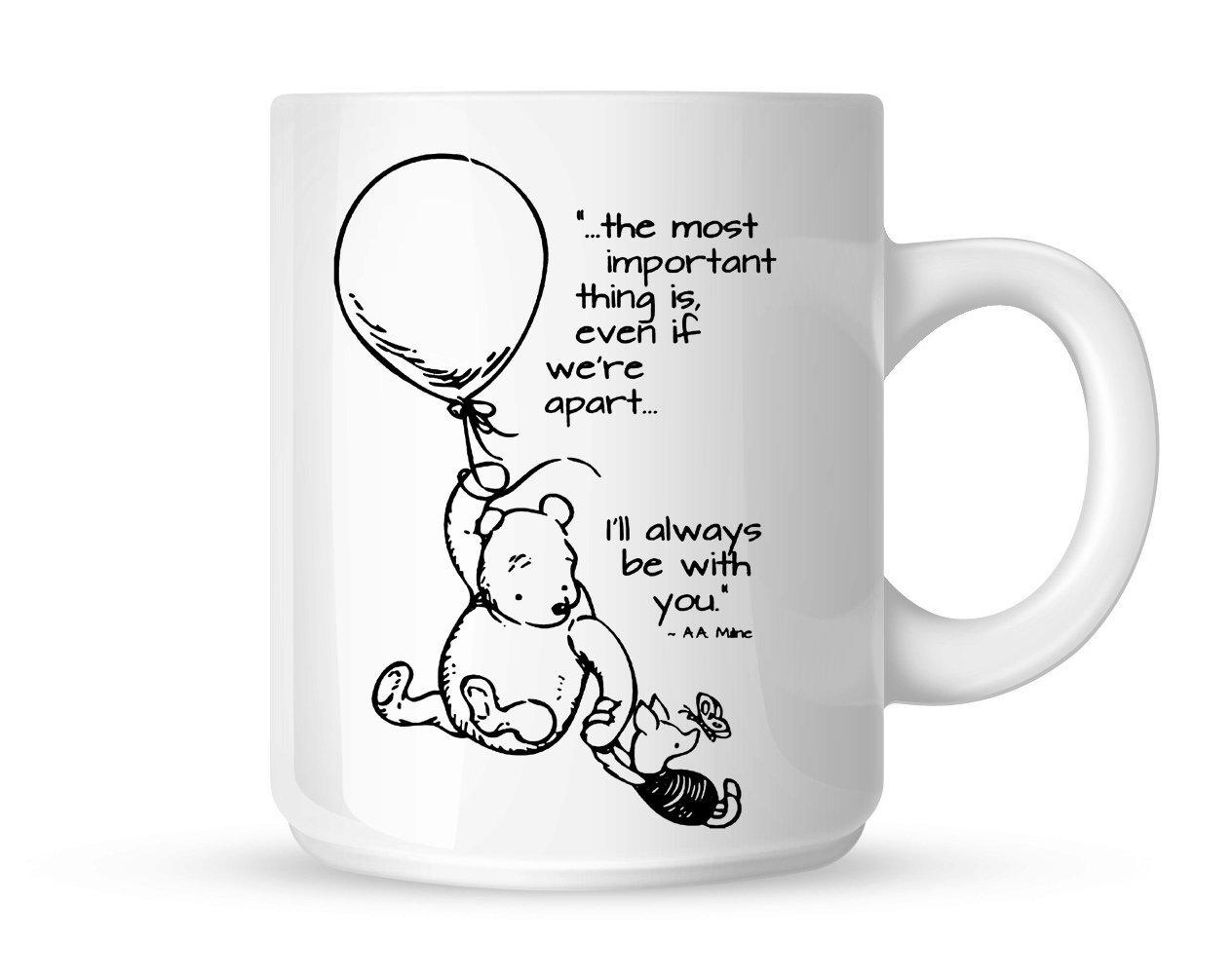 bd01883a841 Amazon.com: Winnie the Pooh Love Quotes Mug White Mug 11oz: Kitchen & Dining