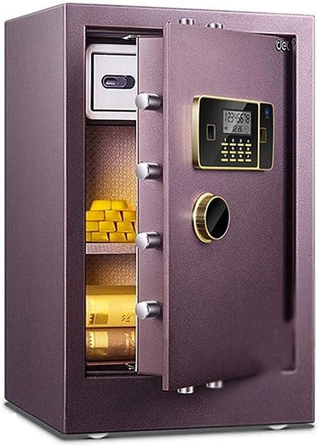 Wtbew-u Caja Fuerte, Caja Fuerte, Caja ignífuga Segura combinada, Caja Fuerte Segura Segura pequeña de la Caja Fuerte Segura de la Oficina, Alarma de la vibración (tamaño: 42 * 36 * 65cm):