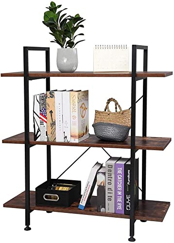 Deal of the week: 3 Tier Industrial Bookshelf,Furniture Bookcase Vintage Wood Bookshelves