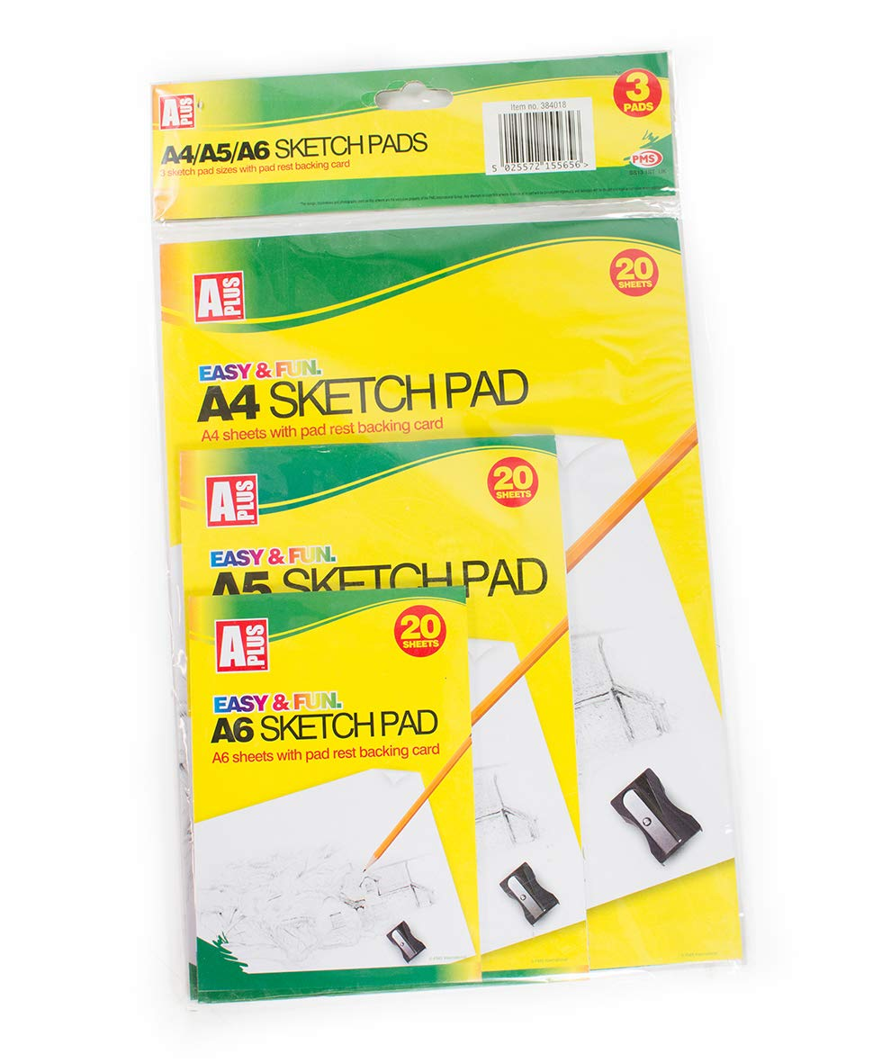 Sketch Pad Set with 20 Pages and 3 Assorted Größes Including A4, A5 and A6 B07JFTBX84  | Sale Düsseldorf