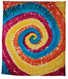 Luna Bazaar Jerry Tie Dye Hippie Tapestry, Wall Hanging, and Bedspread (Large, 7 X 8 Feet, 100% Cotton, Fair Trade Certified)