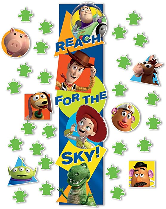 Eureka Disney Pixar Toy Story Classroom Decoration Door Poster Kit, 31pcs, 45'' H