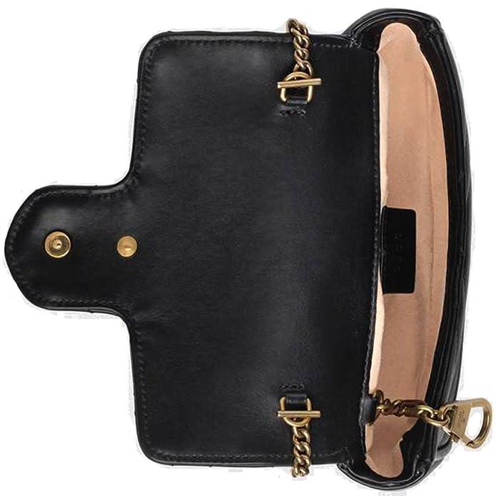 a1b63ac292cd Amazon.com: Gucci GG Marmont Matelassé Leather Super Mini Bag Handbag  Article: 476433 DSVRT 1000: Shoes