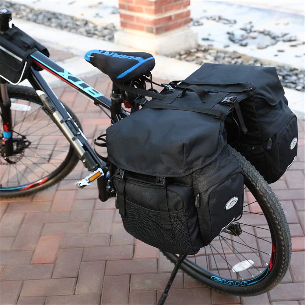 OYHN Cycle Saddle Rear Rack Bike Bag 50 L Bike Panniers Bag Bike Rack Bag Adjustable Large Capacity Waterproof Bike Bag 600D Polyester Bicycle Bag Cycle Bag Reflective Strips