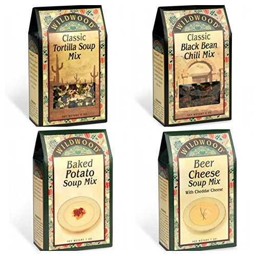 Wildwood Soup Mix Bundle (4 Pack): Classic Black Bean Chili, Classic Tortilla, Beer Cheese and Baked Potato