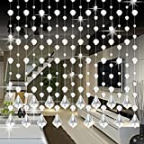 1pc Romantic Luxury Crystal Glass Bead Curtain Length 1M Suitable for Living Room Bedroom Window Door Wedding Decor Different Style Available Gessppo