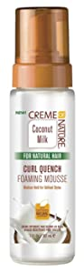 Creme Of Nature Coconut Milk Curl Quench Foaming Mousse 7 Ounce (207ml) (3 Pack)