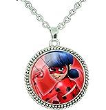 New Horizons Production Miraculous Ladybug Logo Glass Domed Pendant Necklace