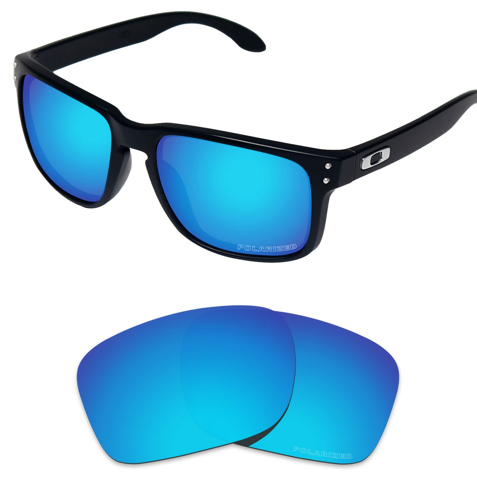 Tintart Performance Replacement Lenses for Oakley Holbrook Sunglass Polarized Etched-Sky Blue