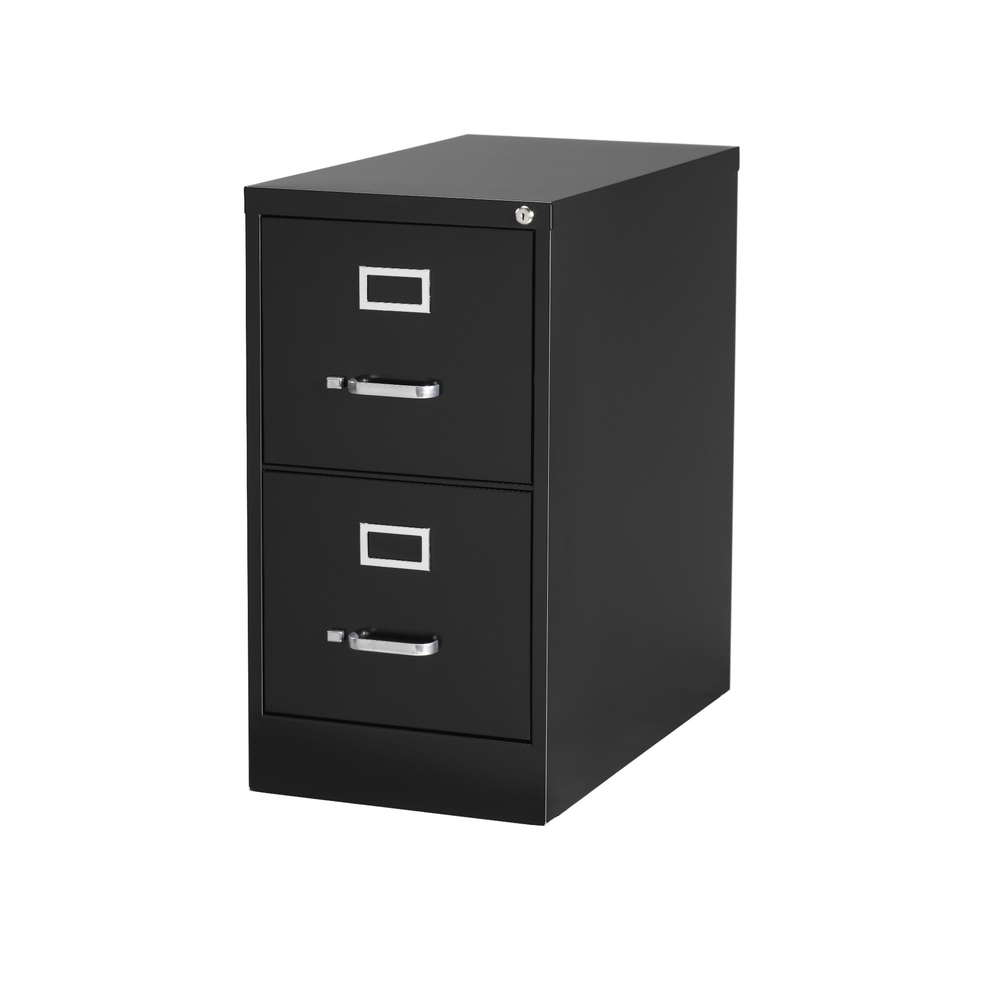 Hirsh Industries 22'' Deep Vertical File Cabinet 2-Drawer Letter Size Black, 17890, Lot of 1 by Hirsh Industries