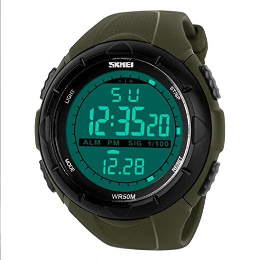1bbd1a3fb30 Buy Addic Digital Green Dial Men s   Boy s Watch (Addicmw94) Online at Low  Prices in India - Amazon.in