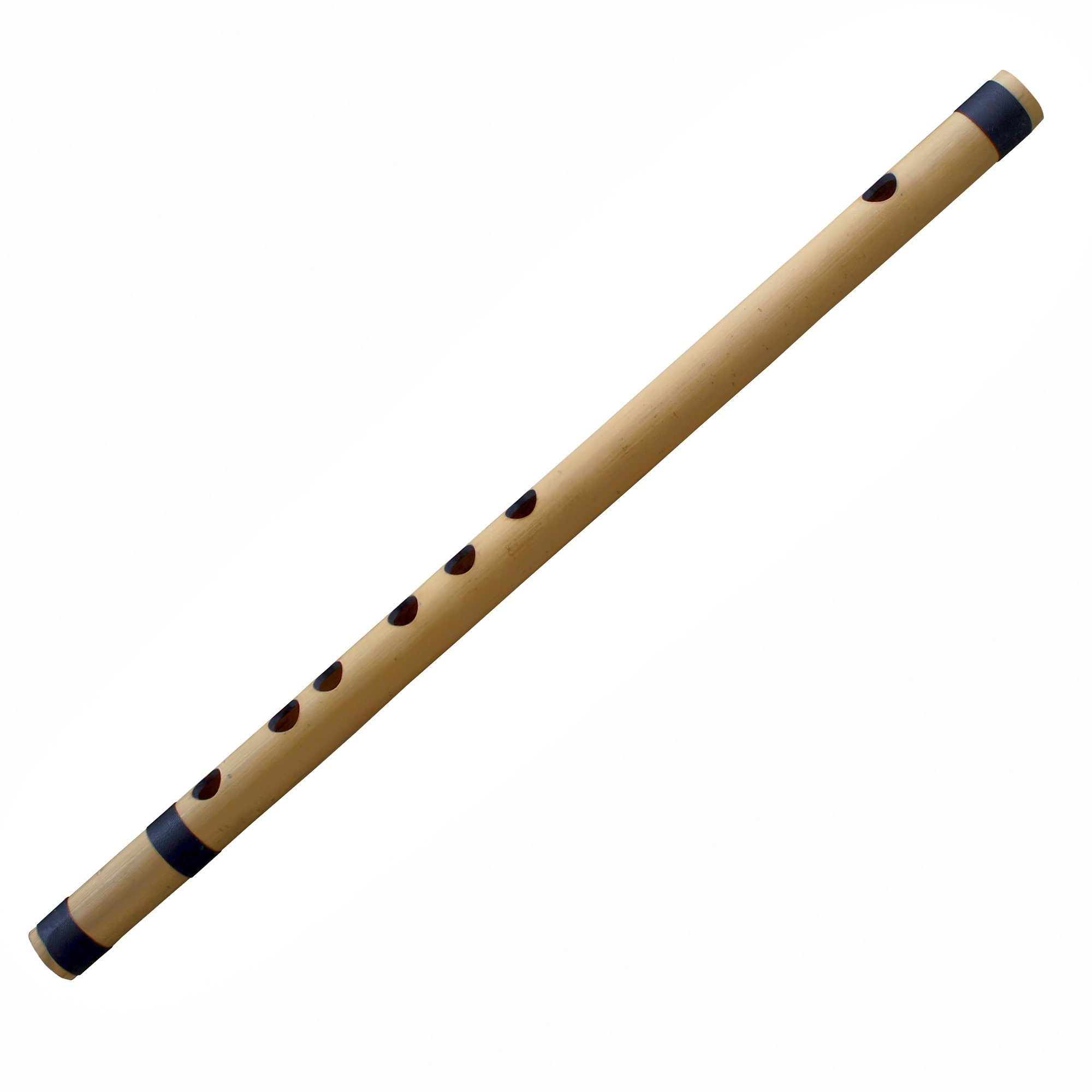Transverse Flute Professional Bansuri Bamboo, Key-E, 15 Inches Long - Traditional Handmade Indian Musical Instrument