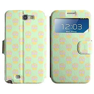 LEOCASE Colorful Skull Funda Carcasa Cuero Tapa Case Para Samsung Galaxy Note 2 N7100 No.1001882
