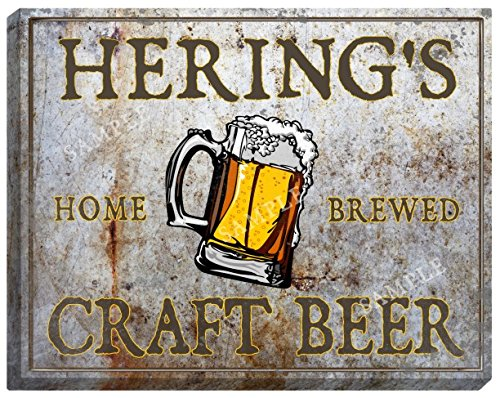herings-craft-beer-stretched-canvas-sign-16-x-20