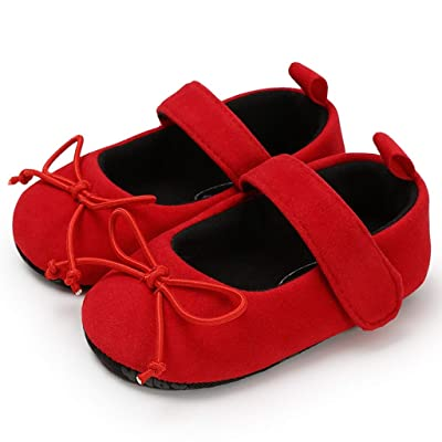 Baby Girl Shoes, Infant Baby Girls Sandas Soft Sole Cotton Bow Mary Jane Ballet Flats No-Slip Princess First Walking Crib Shoes : Sports & Outdoors