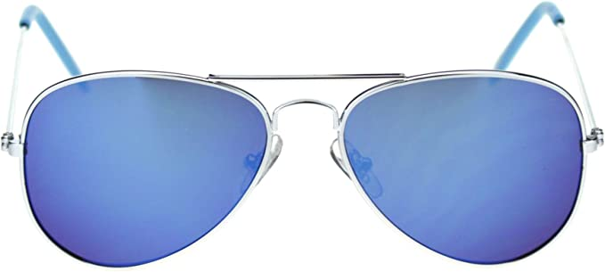 Color Mirror Lens Cop Pilot Metal Aviator Sunglasses Unisex