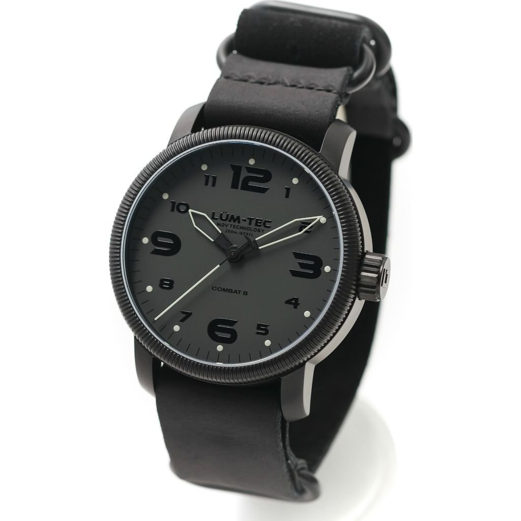 Lum-Tec B39 Phantom Watch | Leather Watch Band - Black by Lum-Tec (Image #2)