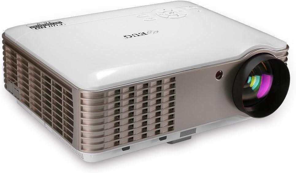 EUG Proyectores de vídeo digital LED LCD 3900 lúmenes Wxga HD 1080p HDMI Multimedia Home Theater Proyector para interior/exterior, ordenador, Blu Ray Player, TV Stick, PS4 Xbox 360: Amazon.es: Electrónica
