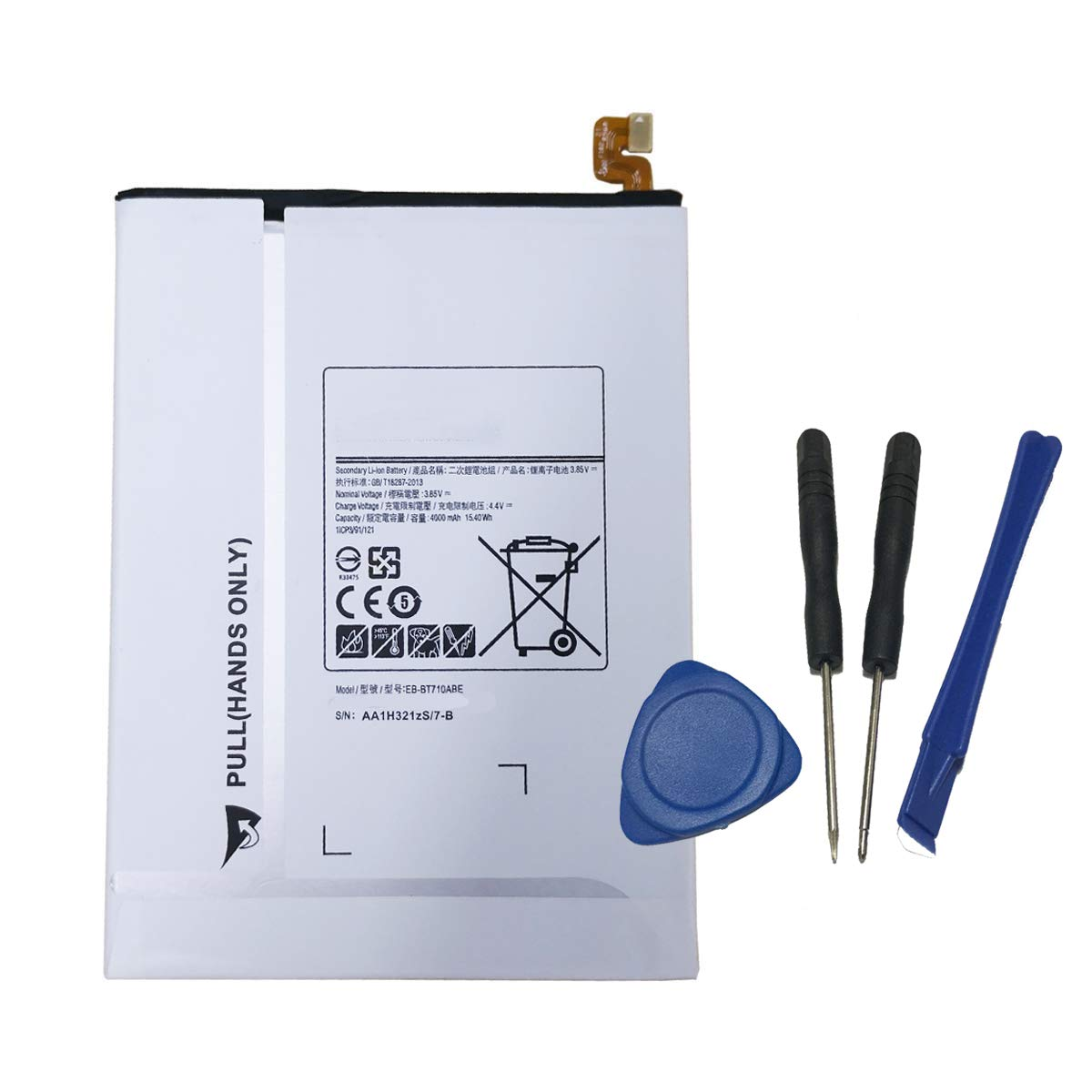 SM-T710 YNYNEW Replacement EB-BT710ABA Tablet Battery for Samsung Galaxy Tab S2 8.0 T715 T719 with Free Tools T713 Tab S2 Nook 8.0