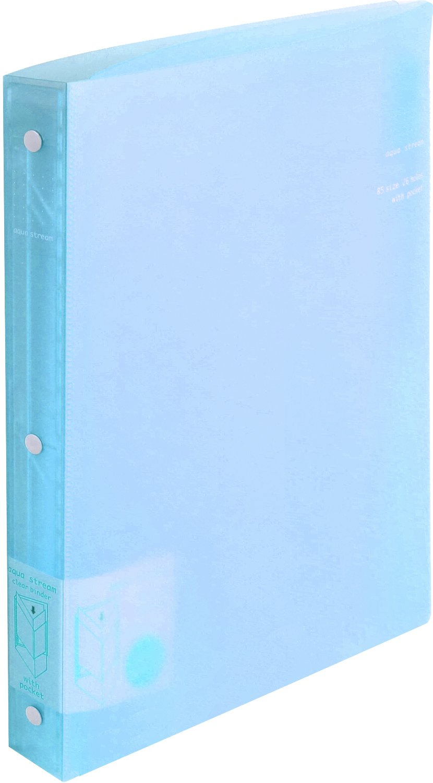 Kokuyo slide binder B5 100-sheet 26 hole blue le -P343B